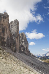 Tre Cime di Lavaredo, Nature Park Tre Cime, Unesco World Heritage Natural Site, Sexten Dolomites, Italy - GWF06113