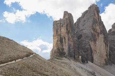 Tre Cime di Lavaredo, Nature Park Tre Cime, Unesco World Heritage Natural Site, Sexten Dolomites, Italy - GWF06122
