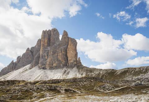 Tre Cime di Lavaredo, Nature Park Tre Cime, Unesco World Heritage Natural Site, Sexten Dolomites, Italy - GWF06125