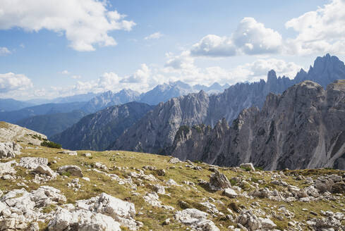 Tre Cime di Lavaredo Area, Nature Park Tre Cime, Unesco World Heritage Natural Site, Sexten Dolomites, Italy - GWF06128
