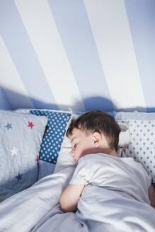 Sleeping boy in the morning/SPAIN/GRANADA/ALMUÑECAR - LJF00136