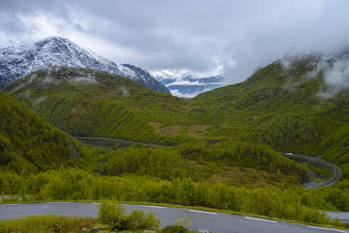 Mountains and mountain road, Norway - RJF00825