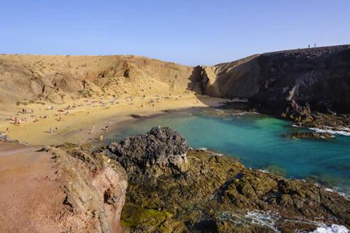Playa de Papagayo, Papagayo-Str�nde, bei Playa Blanca, Lanzarote, Kanarische Inseln, Spanien - SIEF08711