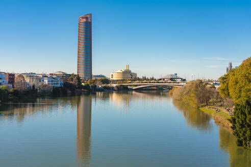 Guadalquivir River with Torre de Sevilla in the background - TAMF01563