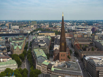 Cityscape with St. James' Church, old town and  St. Georg, Hamburg, Germany - TAMF01611