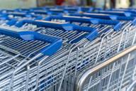 Row of shopping carts - AFVF03471