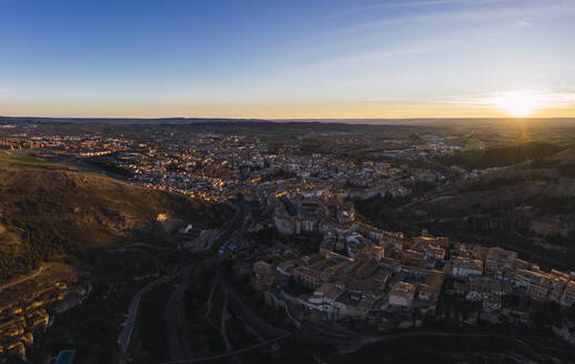 Cuenca at sunset, Castile-La Mancha, Spain - RSGF00233