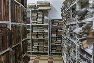 Collection of books and newspapers at National library, Maputo, Mocambique - VEGF00342
