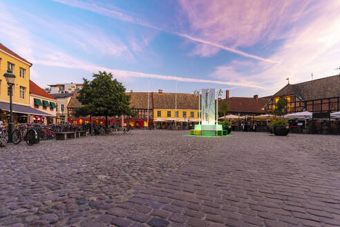 City square against sky during sunset - TAM01656