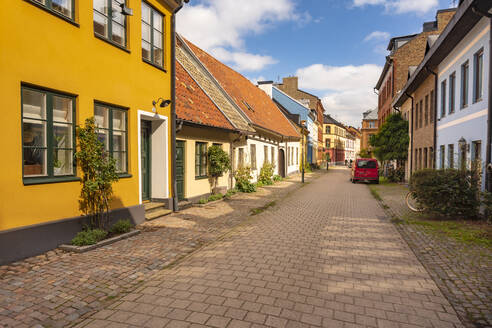 Street amidst residential buildings in Malmo, Sweden - TAMF01683