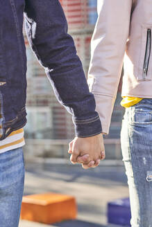 Couple in love holding hands, partial view - DVGF00024