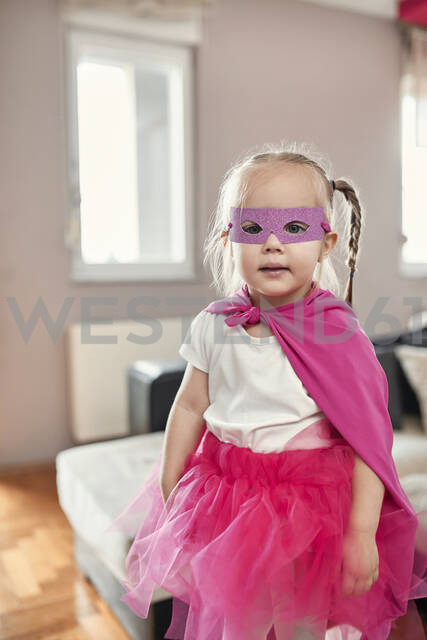 Girl wearing costume of a superwoman - ZEDF02483