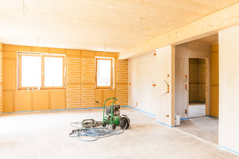 Construction site of a wooden house - TCF06124