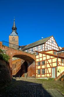 Germany, Tangermunde, Buildings in old town - PUF01673