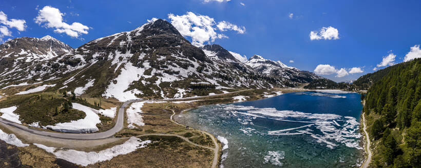 Luftaufnahme, Obersee am Staller Sattel, Defereggental, Osttirol, Österreich - STSF02078