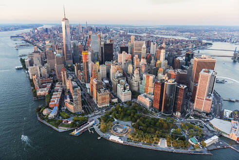 Aerial view of New York cityscape, New York, United States - BLEF08888