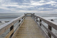 Wooden pier over beach - BLEF09245