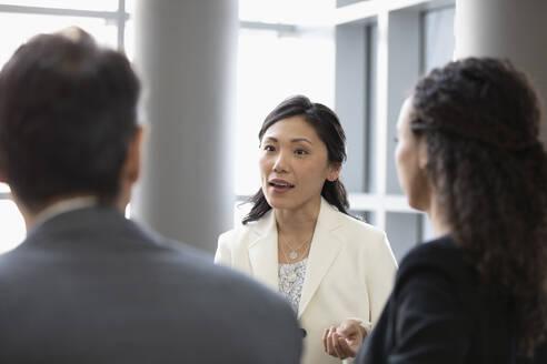 Business people talking in meeting - HEROF37027