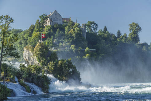 House on cliff overlooking river - BLEF09396