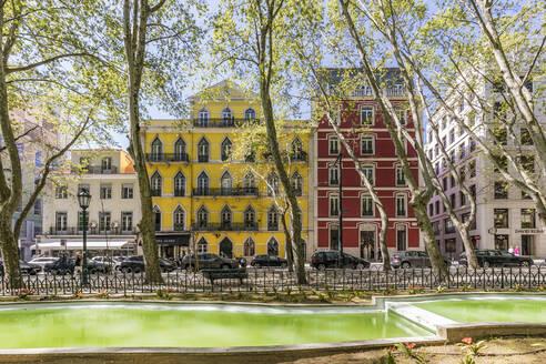 Portugal, Lissabon, Avenida da Liberdade, Allee, Einkaufsstra�e, Gesch�fte, shopping - WDF05310