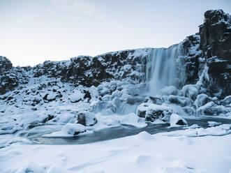 Iceland, Waterfall at Thingvellir National Park - TAMF01757