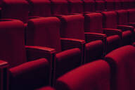 Red theater seats in a row - FSIF04247