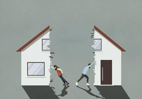 Couple splitting house in divorce - FSIF04295
