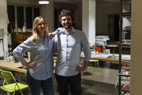 Working at night in a start-up, office, coworking - GIOF06795
