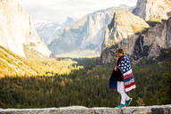 Caucasian woman in Yosemite National Park, California, United States - BLEF10628