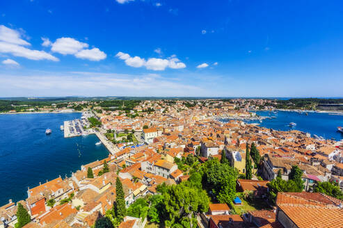 View over Rovinj from church of St. Euphemia, Istria, Croatia - THAF02569