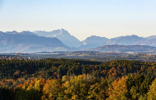 View to the Zugspitze in autumn, Bavaria, Germany - LHF00649