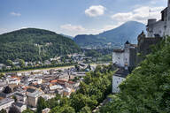 View from Hohensalzburg to the city of Salzburg, Austria - EL02030