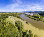 Isar estuary into Danube river near Deggenau, Lower Bavaria, Germany - SIEF08809