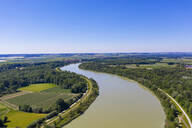 Aerial view of Isar river, Lower Bavaraia, Germany - SIEF08818