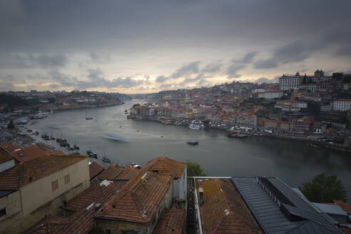 View over Porto and river Douro at dusk, Portugal - FCF01789