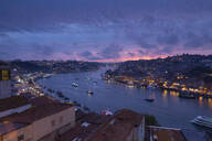 View over Porto and river Douro at dusk, Portugal - FCF01798
