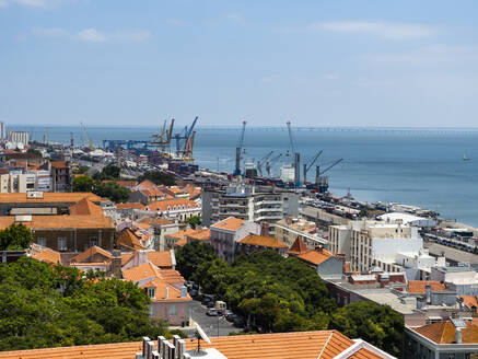 View over Old Town, Lisbon, Portugal - AMF07214