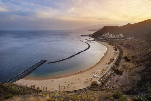 Sunset at Playa de Las Teresitas, Tenerife, Spain - DHCF00196