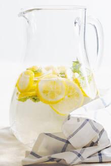 Pitcher of herbal lemon water - BLEF12429