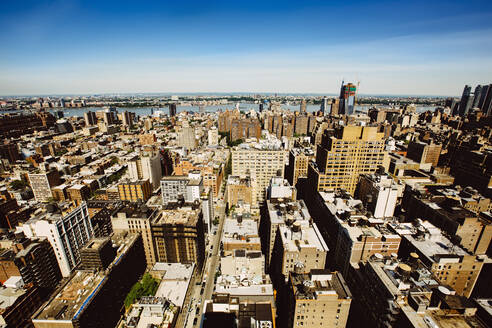 Aerial view of New York cityscape, New York, United States - BLEF12873