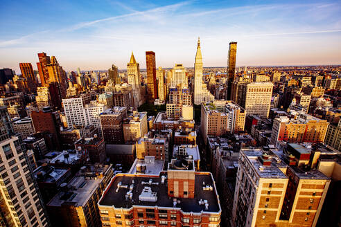 Aerial view of New York cityscape, New York, United States - BLEF12900