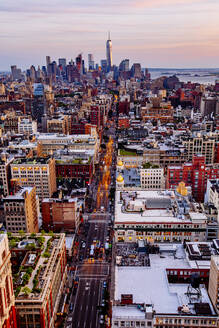 Aerial view of New York cityscape, New York, United States - BLEF12909
