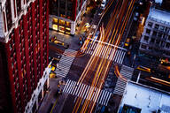 Aerial view of traffic driving on New York street, New York, United States - BLEF12912