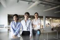 Portrait confident female scientists in laboratory - HEROF37332