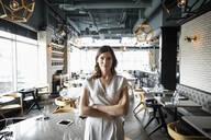 Portrait confident female restaurant owner - HEROF37551