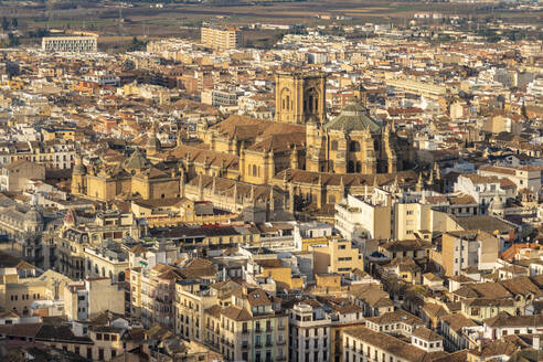 View over Albayzin and the Cathedral of Granada, Spain - TAMF01888