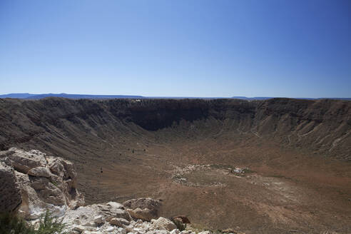 Meteor Crater under blue sky, Arizona, United States - BLEF13104