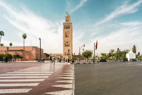 View to Koutoubia mosque, Marrakesh, Morocco - TAMF01927
