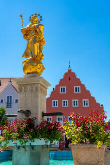 St. Mary's Column against clear blue sky at Bavaria, Germany - SPCF00431