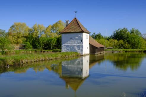 Fischereimuseum, Wasserschloss Neuhaus, Adelsdorf bei Erlangen-Höchstadt, Mittelfranken, Franken, Deutschland - LBF02650
